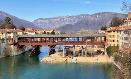 Ponte degli alpini: Innalzata a 3,33 metri la soglia di chiusura