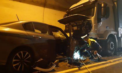 Incidente nel traforo Schio Valdagno, due feriti