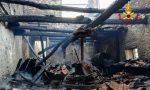 Incendio a monte Magrè, a fuoco un'abitazione disabitata