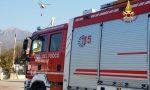 Il Monte Summano a Santorso è di nuovo in fiamme VIDEO