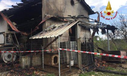 Fara Vicentino: l'incendio di macchinari agricoli