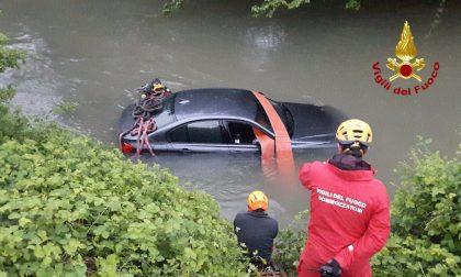 Auto nel fiume Retrone: salvi i due occupanti