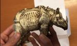 Il rinoceronte di Dürer è ora una scultura
