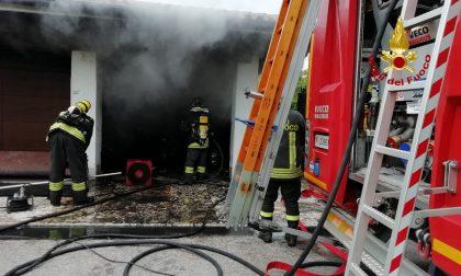 Incendio in un garage di Via Col Beretta a Bassano del Grappa