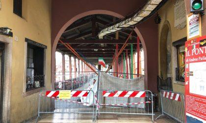 Bassano: principio d'incendio, Ponte degli Alpini chiuso