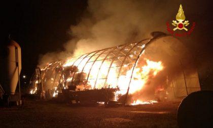 Marostica: 1200 quintali di foraggio in fiamme