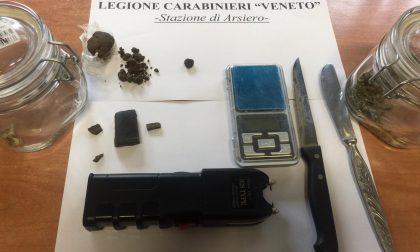 Controlli antidroga: due deferiti e quattro segnalati dai carabinieri di Schio