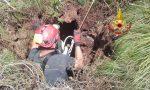 Capretta cade in una buca profonda 15 metri sul Monte Fior