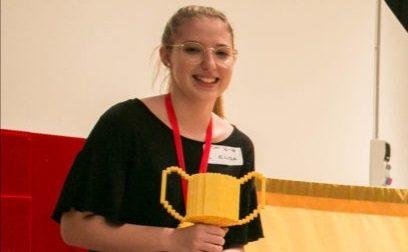 La rosatese Elisa Lorenzato primo Lego Master Builder