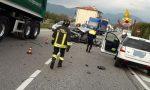 Quattro veicoli e quattro feriti: I numeri dell'incidente