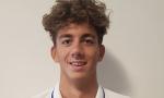 Il giovane campione di nuoto Paolo Conte Bonin