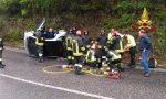 Incidente a Cogollo del Cengio: Perde il controllo dell'auto e si rovescia