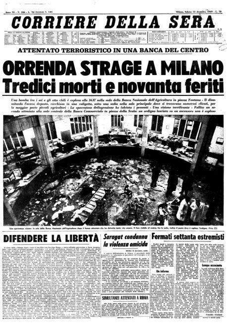 La strage di Piazza Fontana cinquant'anni dopo (1969-2019)