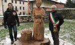 Nel giorno di Santa Lucia svelata la scultura dedicata alla lavandaia