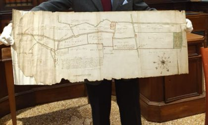 Il Lions Club Vicenza Host restaura un'importante mappa di Dueville