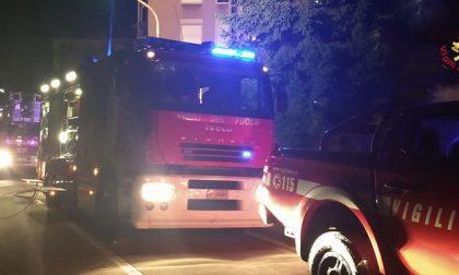 Incendio Vicenza, donna salvata dai Vigili del fuoco