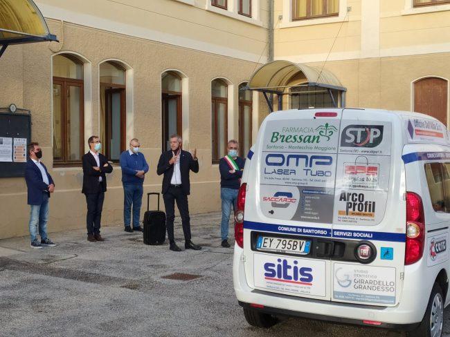 Servizi sociali Santorso, veicolo attrezzato a disposizione grazie alla generosità degli imprenditori locali
