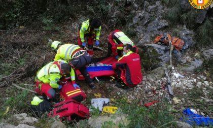 Precipita per una decina di metri dalla parete di roccia: climber 46enne di Rossano Veneto ferito