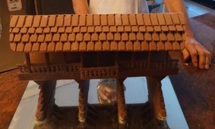 """Un ponte di cioccolato: la versione """"dolce"""" del Ponte degli Alpini di Bassano"""