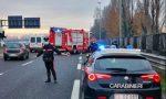 Auto ribaltata in tangenziale a Padova, traffico in tilt: coinvolto camionista vicentino