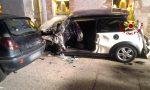 Perde il controllo dell'auto a Solagna e si schianta contro il muro del negozio: 39enne rimane incastrata