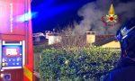 Incendio tetto di una villetta bifamiliare a Isola Vicentina: innescato dalla canna fumaria