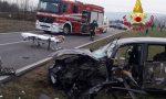 Violento frontale tra auto e furgone lungo la SP 66 a Santorso