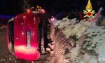 Le foto dell'auto rovesciata a Gallio: un ferito