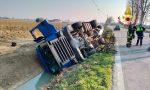 Incidente a Barbarano Vicentino: perde il controllo dell'autoarticolato e finisce nel canale di scolo