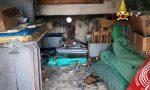 Le foto dell'incendio divampato nel magazzino della società di pallavolo