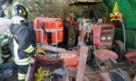Paura a Montecchio Precalcino, le foto dell'incendio nel ricovero di attrezzi agricoli