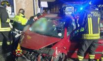 Il video e le foto dell'incidente tra due auto a Lonigo
