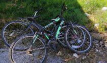 Ecco le foto delle quattro mountain bike recuperate nell'ex parcheggio di via Battaglione Val Leogra