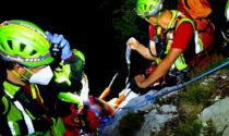 Il cane si impaurisce e lui scivola per 30 metri tra le rocce