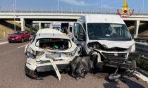 Scontro tra furgone e una vettura all'altezza di Vicenza sud, due feriti