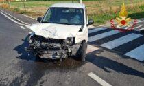 Incidente a Madonna di Lonigo: perde il controllo dell'auto e finisce contro i contatori di gas e acqua