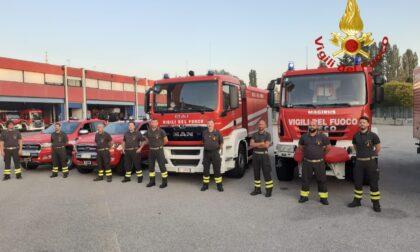 Sud Italia devastato dagli incendi, il Veneto invia Vigili del fuoco