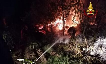 Incendio in un'azienda agricola, pompieri al lavoro tutta notte