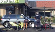 Violento scontro tra un'auto e una moto, 62enne ricoverato all'ospedale di Vicenza