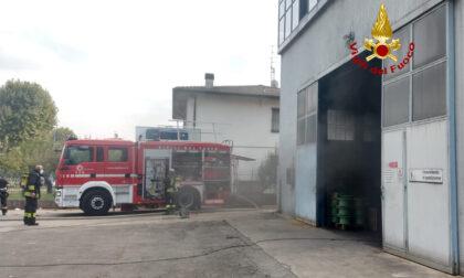 Incendio in azienda di trasformatori elettrici di Brendola