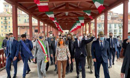 Inaugurazione Ponte degli Alpini: al taglio del nastro anche la Presidente del Senato Casellati