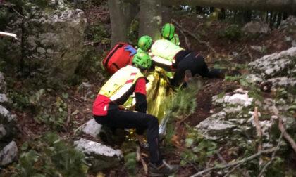 Colpito da una pianta mentre fa legna nei boschi: ferito 47enne
